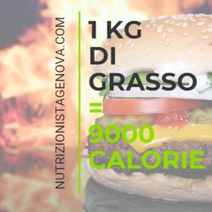 Calcolo delle Calorie - 1kg-9000 calorie