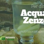 Acqua e Zenzero per Dimagrire