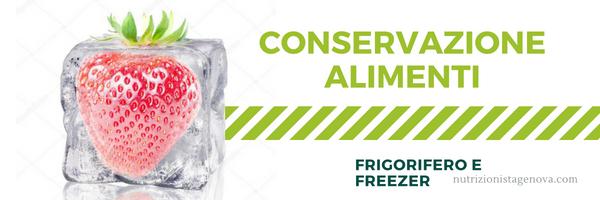 Conservazione degli alimenti - Frigorifero e Freezer
