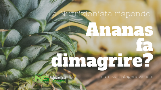 Ananas fa dimagrire